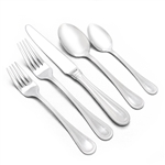 Royal Bead by Wallace, Stainless 5-PC Setting w/ Soup Spoon