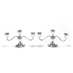 Candelabrum Pair, 3-Branch by Newport, Sterling, Gardroon Edge