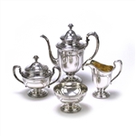 Louis XIV by Towle, Sterling 4-PC Coffee Service w/ Waste Bowl