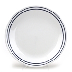Dinner Plate by Corning, Vitrelle, Blue Bands