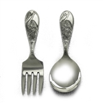 Baby Spoon & Fork by Manchester, Sterling, I am Mr. Stork