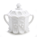 Cherry Milk Glass by Westmoreland, Glass Cookie Jar