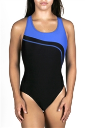 Adoretex Women's Wide Strap Splice Swimsuit