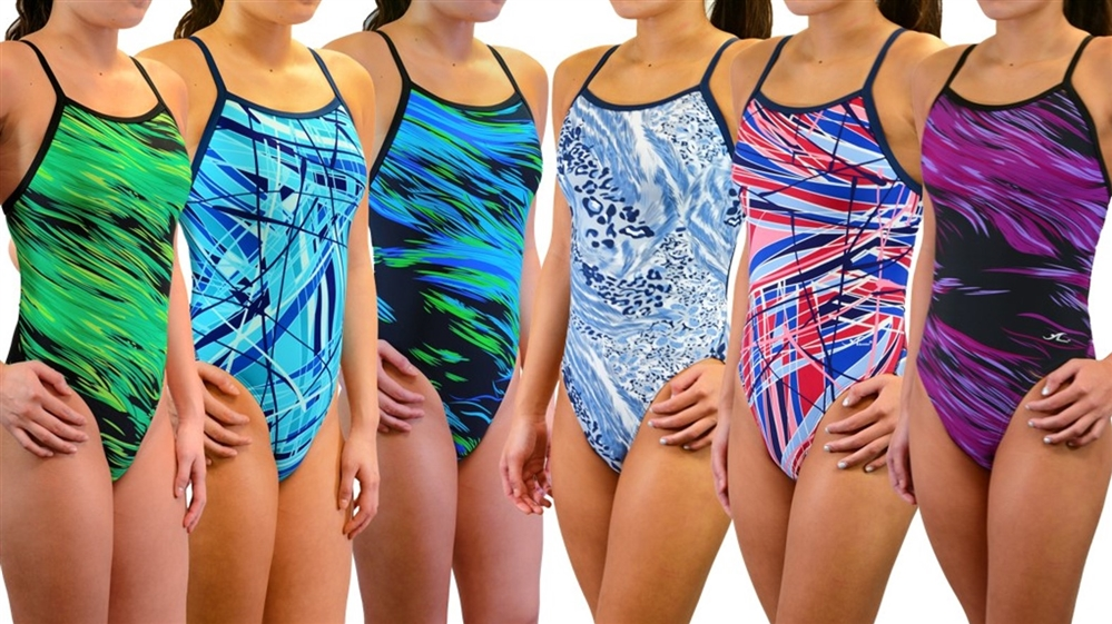 Adoretex Women's Pro One Piece Thin Strap Athletic Swimsuit
