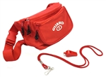 Adoretex Guard Fanny Pack Whistle with Lanyard Equipment Set