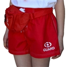 Adoretex Women's Guard Swimwear Board Short Set with Hip Bag, Whistle with Lanyard