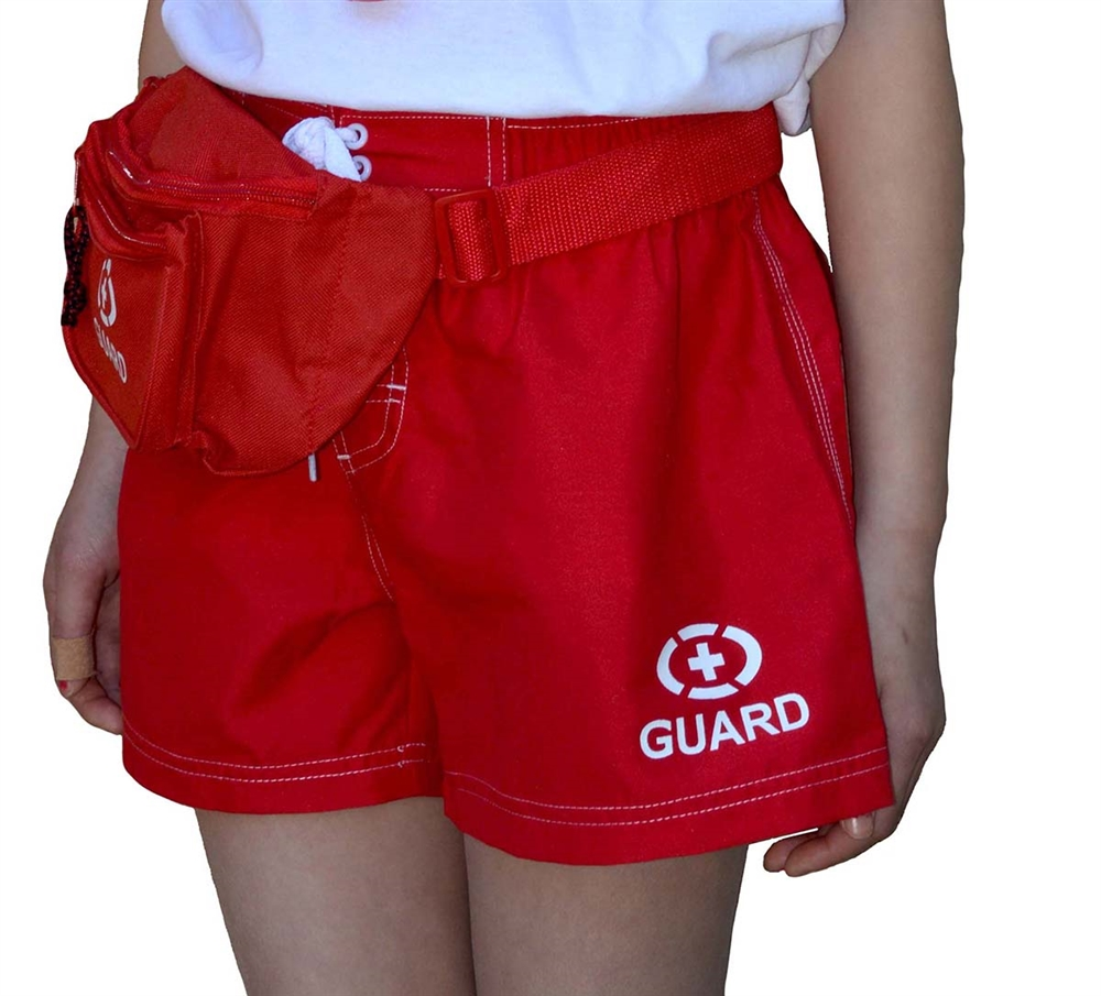 Adoretex Women's Guard Swim Board Short Set with Hip Bag, Whistle with Lanyard