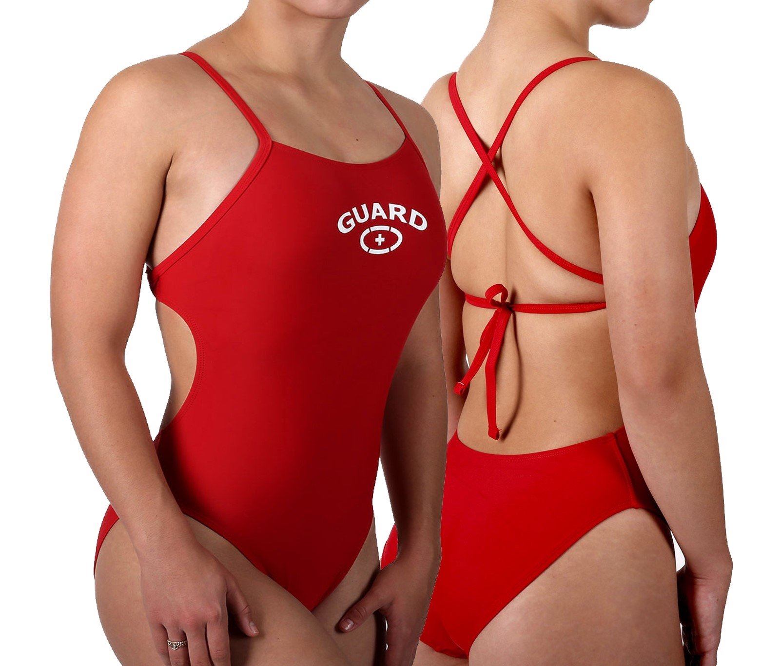 Adoretex Girls//Womens Guard Thin Strap Flyback One Piece Swimsuit