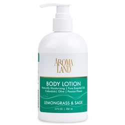 Aromatherapy+ Hand & Body Lotion - Lemongrass & Sage 12 oz.