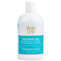 Bath & Shower Gel - Rosemary & Mint 12 oz. (24 pack)