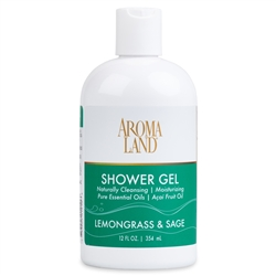 Bath & Shower Gel -  Lemongrass & Sage 12 oz. (24 pack)
