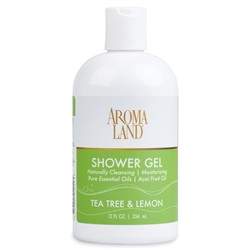 Bath & Shower Gel -  Tea Tree & Lemon 12 oz. (24 pack)