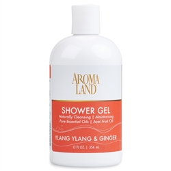 Bath & Shower Gel - Ylang Ylang & Ginger 12 oz. (24 pack)