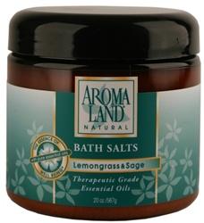 Bath Salts - Lemongrass & Sage 20 oz. (24 bulk pack)