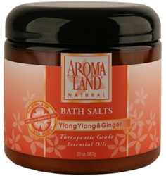 Bath Salts - Ylang Ylang &Ginger 20 oz. (24 bulk pack)