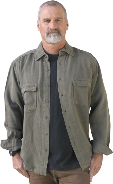 Long Sleeve Men's hemp shirt