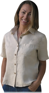 Cruzette Hemp/Tencel Camp Shirt