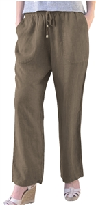 Dash Hemp drawstring pants made from 55% Hemp and 45% Tencel in a narrow 1X1 twill