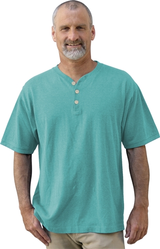 Men's hemp henley by Dash Hemp is made from 55% Hemp and 45% Organic Cotton