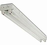 2 light 36 inch premium grade industrial-commercial T8 fluorescent fixture with electronic ballast and lamps