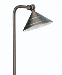 "Solid brass Luna ""Escort"" halogen pathway landscape light"