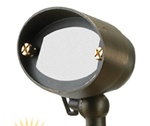 Cast brass wall washer halogen landscape light