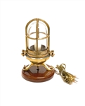 Solid Brass Ship's Passageway Light with Grille