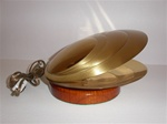 Polished brass shell lamp