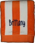Orange and White Stripe Towel