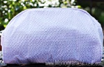 Lavender Seersucker Cosmetic Bag
