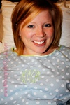 Blue Polka Dot Monogrammed Hospital Gown