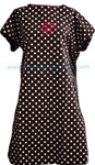 Brown Polka Dot Monogrammed Hospital Gown
