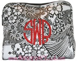 Small Floral Cosmetic Bag