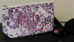 Lavender Floral Cosmetic Bag