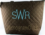 Brown Zippered Tote Bag