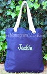 Navy Canvas Tote