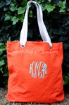 Orange Canvas Tote
