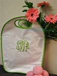 White and Lime Oilcloth Keyhole Tote