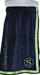 Navy & Apple Polka Dot Spa Wrap