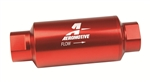Aeromotive 12301 : Fuel Filter, Inline Mount, Aluminum, Red, 10 Microns, -10 AN Female Inlet/Outlet