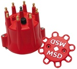 MSD 8433 Distributor Cap, MSD Style, Chevy V8, HEI, Retainer