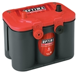Optima 8004-003 : Battery, RedTop, AGM, 12V, 800 CCA, Top Posts/Threaded Side Terminals
