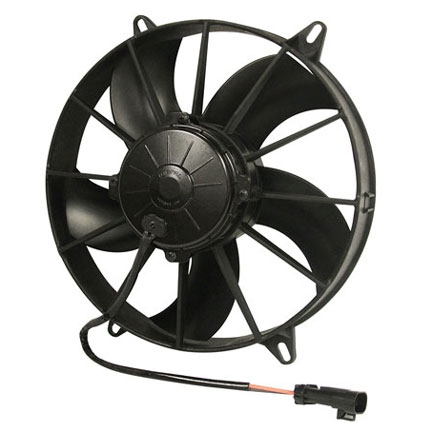 SPAL 30102800 Electric Fan, 11 Inch, Pull Style - Curved Blades