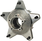 Wilwood 270-6513D : Wheel Hub, Wide 5, Aluminum, Natural, Rear, Drilled Studs