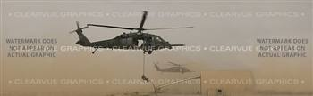 Heli-Rescue Aircraft Rear Window Graphic