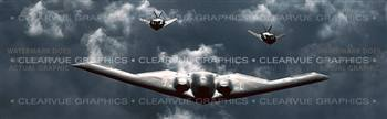 Stealth Squadron Aircraft Rear Window Graphic