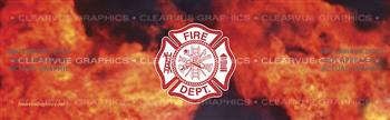 Fire Maltese Fire Fighter Rear Window Graphic