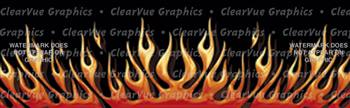 Flame Up Rear Window Graphic