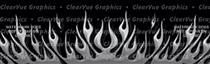Flame Up Charcoal Rear Window Graphic