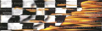 Flaming Checks Rear Window Graphic